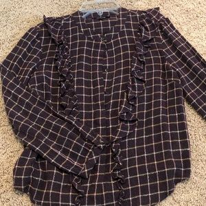 Madewell Long Sleeve Checkered Button Down